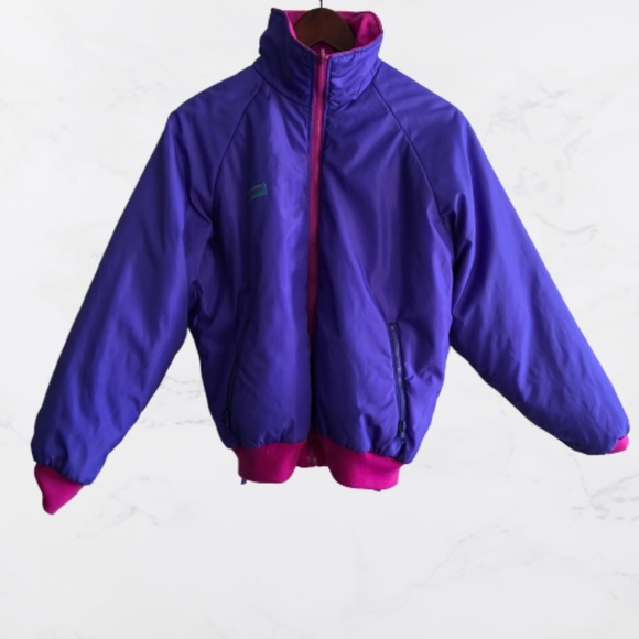 Vintage Columbia reversible pink and purple jacket